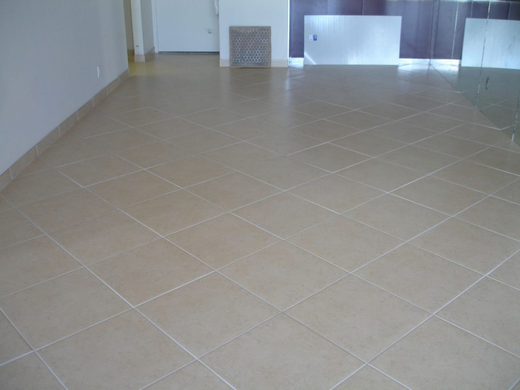 Cream Diagnol Ceramic Tile